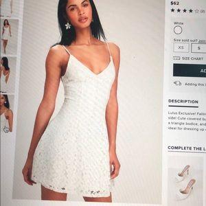 Easy Love White Lace Skater Dress - Lulus